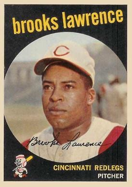 1959 topps brooks lawrence psa cardfacts 1959 topps brooks lawrence 67 baseball card value price guide