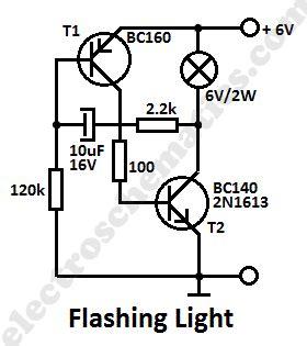 blinking light circuit diagram light circuits