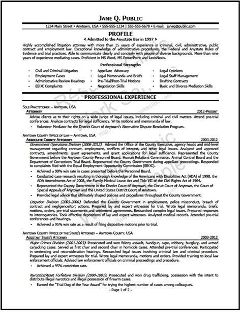 Resume Job Objective Sample by Mediation Attorney Resume The Resume Clinic