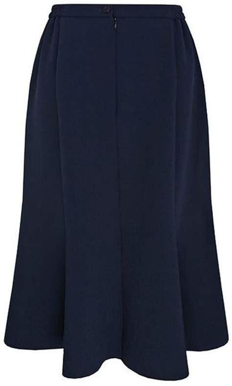 eastex fit flare navy skirt with buckle in blue navy lyst