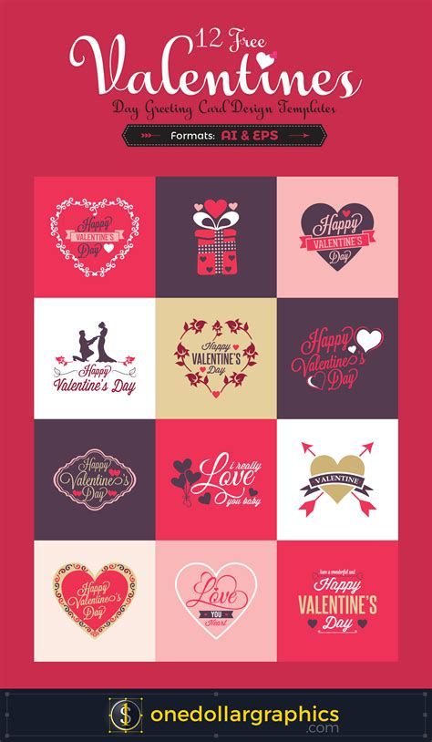 12 valentine day 12 free valentine s day greeting card design templates