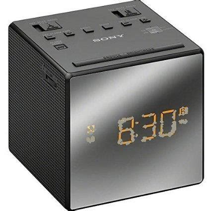 clock radio sony compact am fm alarm clock radio with large easy to read backlit lcd display