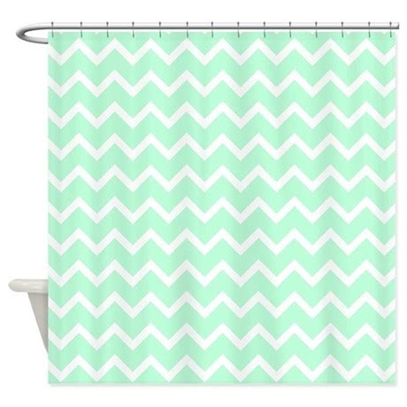 mint shower curtain mint green zigzags shower curtain by metarla