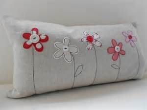 How To Reupholster Sofa Cushions Flower Applique Cushion Cover Folksy