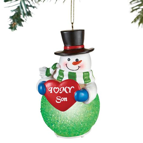 ornaments collections lighted family snowman tree ornament by collections etc