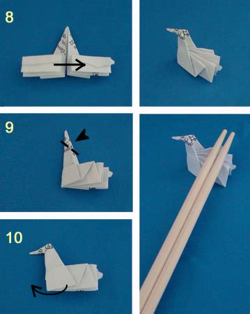 Origami Chopstick Holder - origami chopstick wrapper bird