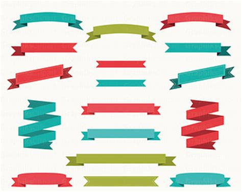 vector banner colored ribbon design free vector in vector ribbon banner png clipart best