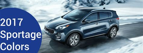 kia sportage color options