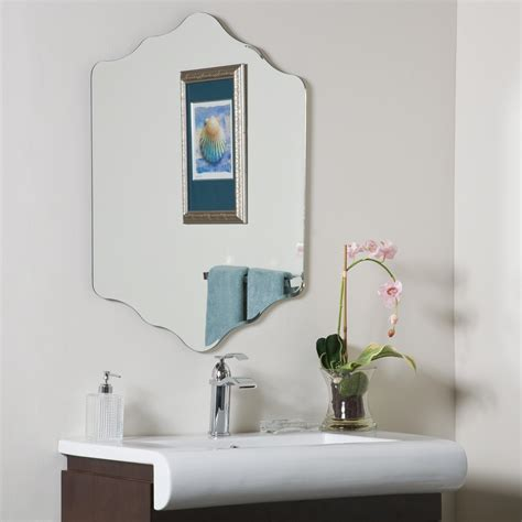 Bathroom Mirrors For Less Decor Vandam Frame Less Bathroom Mirror