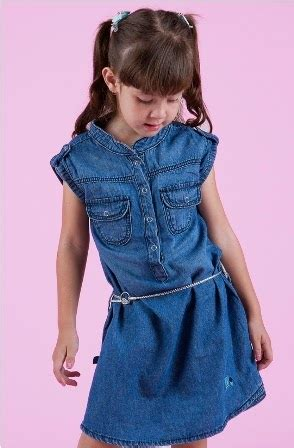 Gamis Anak Perempuan Dress Anak Lucu Ivana Denim Dress baju anak bahan denim