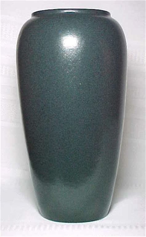 Blue Vases For Sale by Seg Paul Revere Pottery Large Speckled Satin Blue Vase