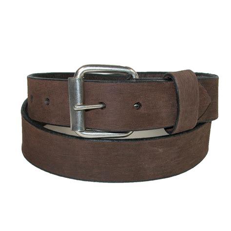 mens big bark leather belt with removable roller
