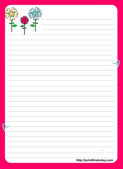 free printable valentine letters love letter pad stationery english worksheets