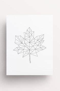 tattoo leaf geometric geometric print red on white geometric maple leaf print