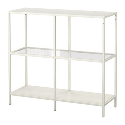 vittsj 214 shelf unit white glass ikea
