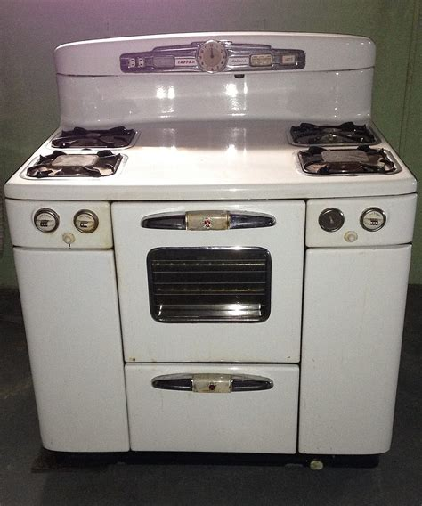 Www Oven Gas tappan deluxe gas stove white chrome oven broiler door