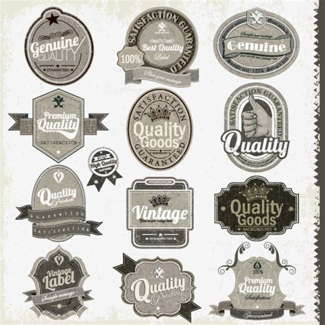 vintage badge template 15 free and premium retro labels badges signs and logos