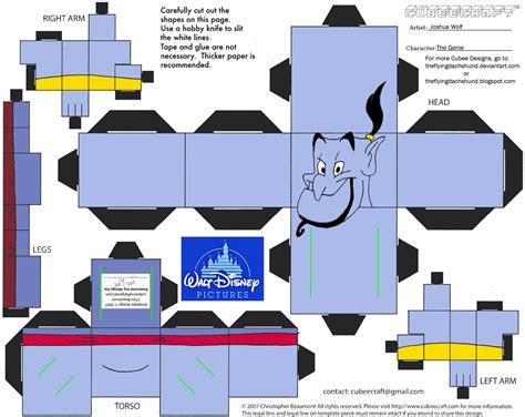 Disney 3d Papercraft - dis14 the genie cubee by theflyingdachshund deviantart