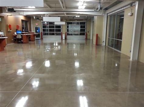 Car Service Center Polished Concrete Floor