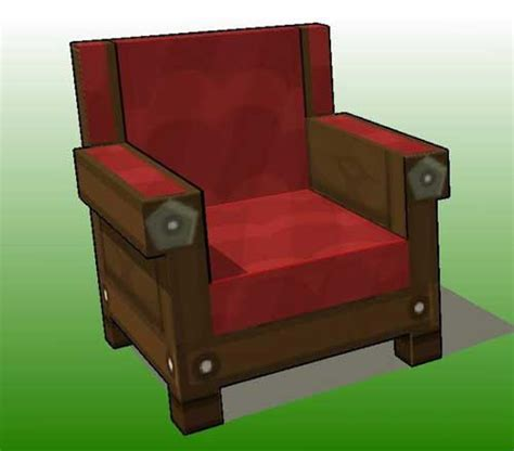 Papercraft Chair - minecraft papercraft arm chair free template