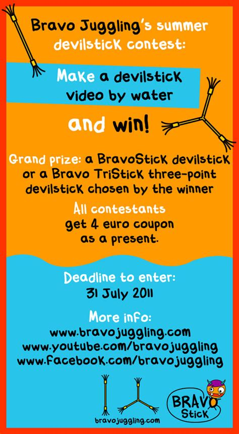 bravo juggling s summer devilstick contest bravojuggling