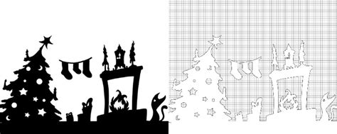 printable christmas silhouettes window printable designs adventure in a box