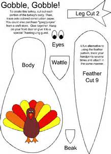 template turkey craft for all in one turkey