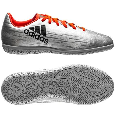 adidas x 16 3 trx in indoor 2016 soccer shoes silver orange youth ebay