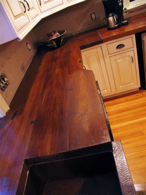 Wood Look Countertops by Concrete Countertop Cast On A Wood Plank Mold And