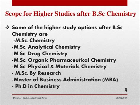 After Mba Pharmaceutical Management by Scope Of Chemistry After B Sc