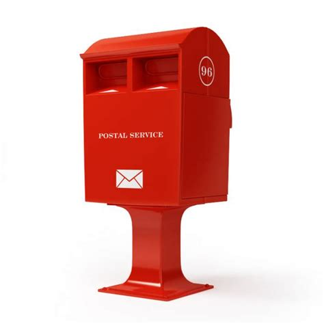 3d Kitchen Cabinets red post box 3d model cgtrader com