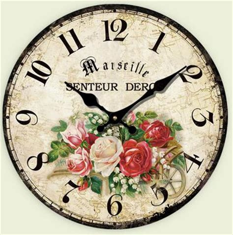 vintage wooden black white wall clock large shabby chic rustic family warmth antique style wall