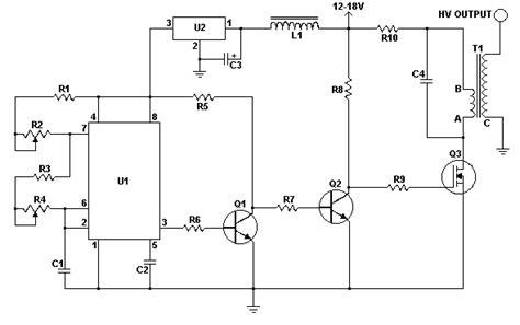 resistor output vertikal solid state tesla coil circuit