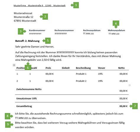 2 Mahnung Verzugszinsen Muster 2 Mahnung F 252 R Freiberufler Vorlage Muster