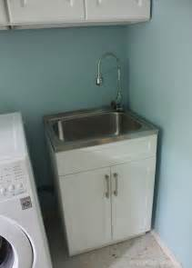 Laundry Room Sinks With Cabinet Crafted Spaces At Home Laundry Room Makeover