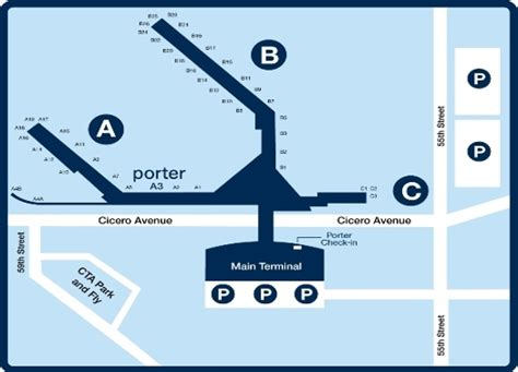 chicago midway airport map chicago midway airport terminal map images
