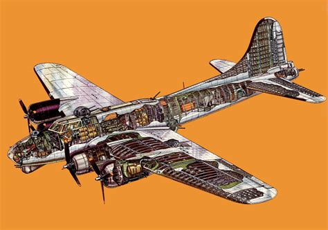 B 17 Sketches by Boeing B 17 Flying Fortress Cutaway Drawing In High Quality