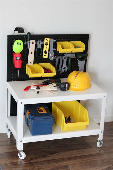 diy kids tool bench kids workbench ikea hackers