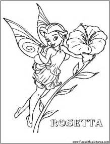 Detailed disney coloring pages disney fairy rosetta coloring