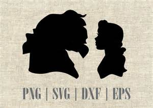 and beast silhouette in and the beast disney silhouette svg and dxf