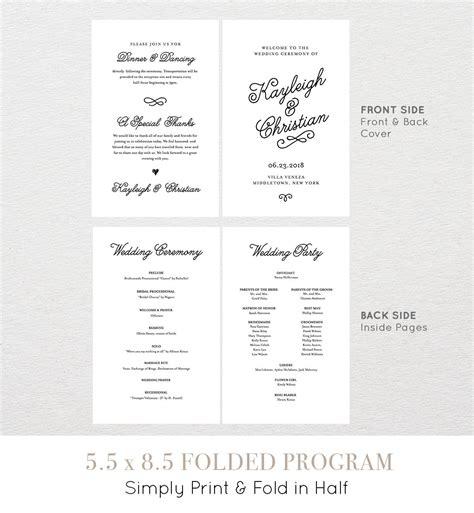 free wedding program template elioleracom construction
