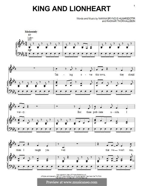 tattooed heart piano chords king and lionheart of monsters and men by n b
