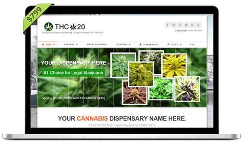 Thc20 Turnkey Marijuana Dispensary Web Design Websites Dispensary Menu Template