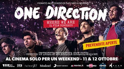film dokumenter one direction prevendita biglietti one direction where we are il