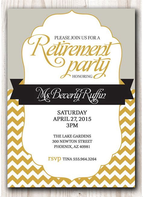 Sle Invitation Template Download Premium And Free Documents In Pdf Psd Retirement Template