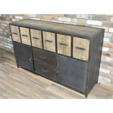 Buffet En Metal by Grand Buffet Industriel En M 233 Tal Et Bois