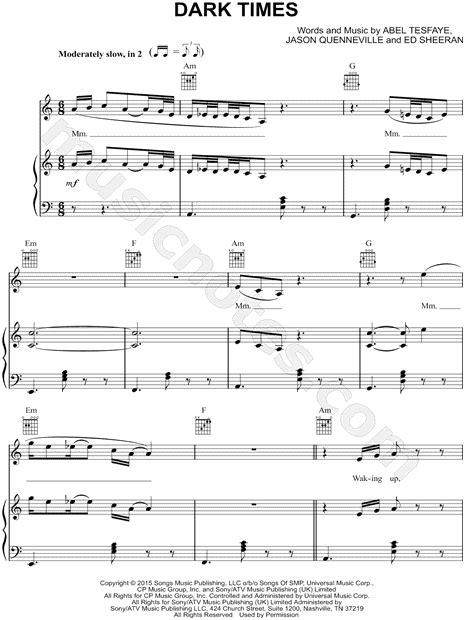 download ed sheeran dark times mp3 the weeknd feat ed sheeran quot dark times quot sheet music in a