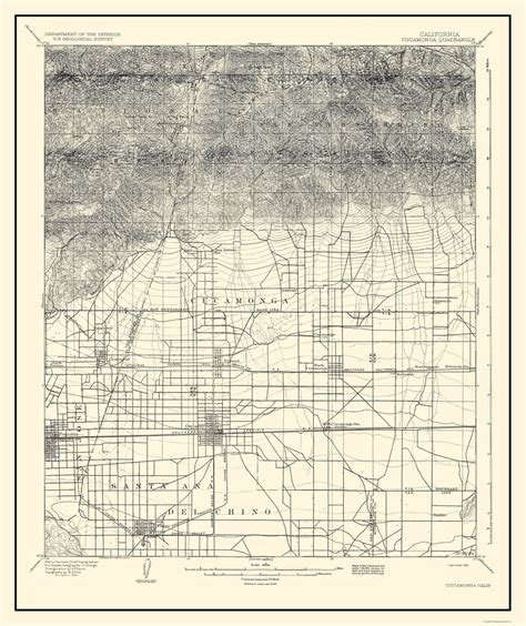 california quadrangle map historical topographical maps cucamonga california