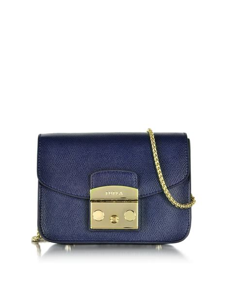 Furla Original Metropolis Navy Furla Metropolis Navy furla metropolis mini navy blue leather crossbody bag in blue lyst