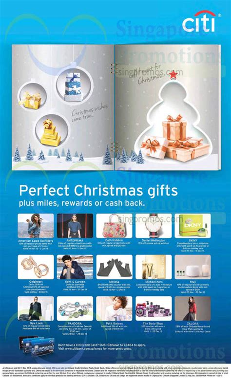 Noel Gifts Credit Card Promotion - citibank perfect christmas gifts promotions from 13 nov 2015
